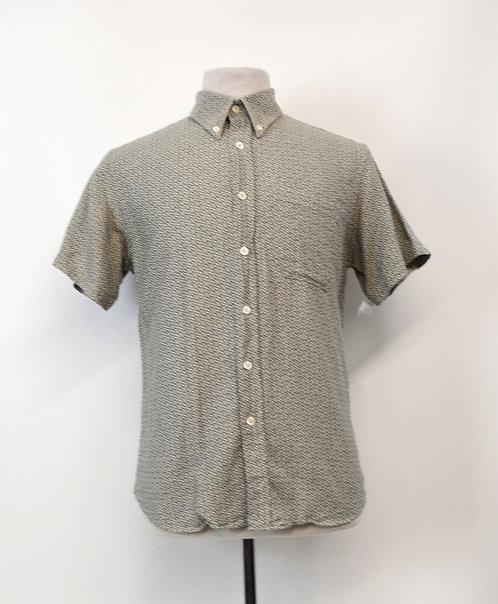Billy Reid Gray Print Shirt Size Medium