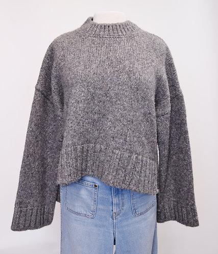 Pringle Of Scotland Gray Knit Sweater Size Large