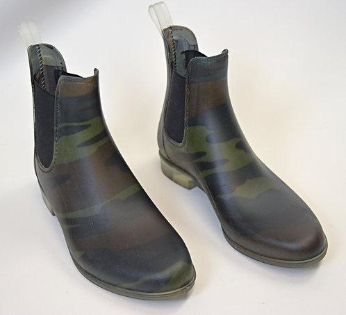 J. Crew Green Camo Rainboots Size 10