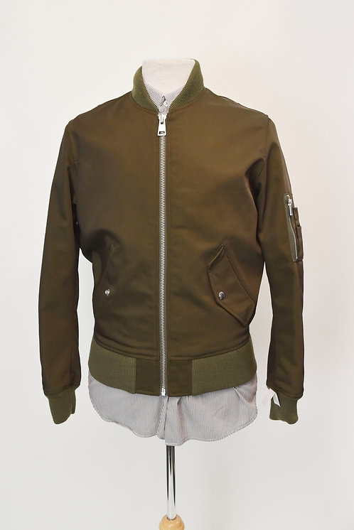The Kooples Olive Green Bomber Jacket Size XS