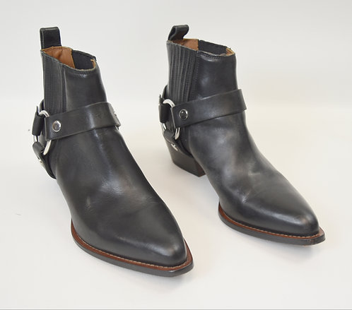 Frye Black Leather Boots Size 9