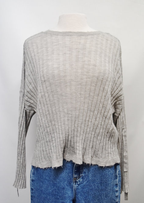 Helmut Lang Gray Knit Sweater Size Medium