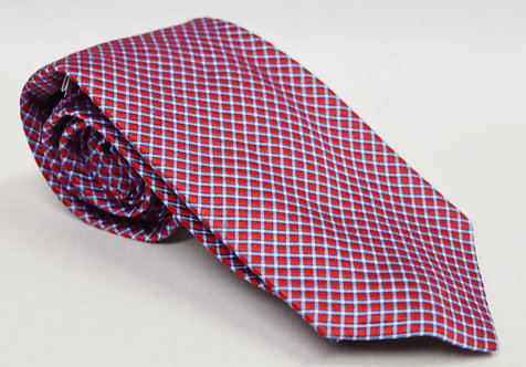 Versace Red Check Silk Tie