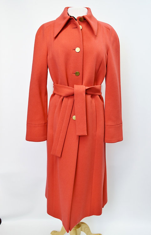 Marc Jacobs Coral Wool Button Down Coat Size 10