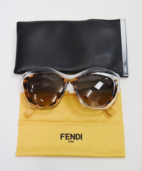 Fendi Oversized Tortoise Shell/Clear Sunglasses