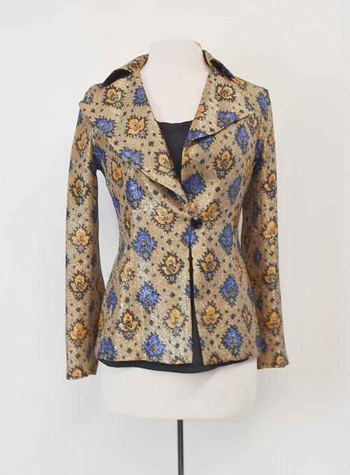 Dries Van Noten Gold Silk Jacket Size Small