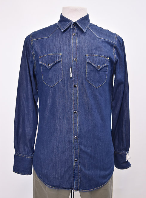 DSquared Blue Denim Shirt Size Medium