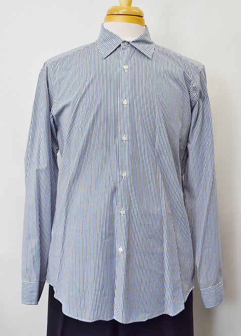 Etro Blue Stripe Dress Shirt Size Large