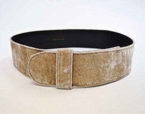 Dries Van Noten Beige Velvet Belt Size 28/30