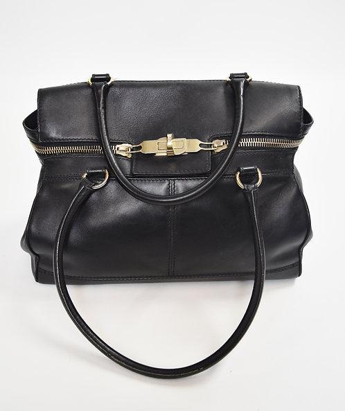 MaxMara Black Leather Shoulder Bag