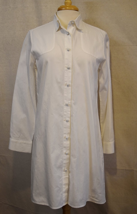Harvey Faircloth White Cotton Dress Size 8