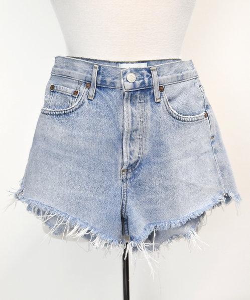 Agolde Light Wash Raw Hem Shorts Size 24