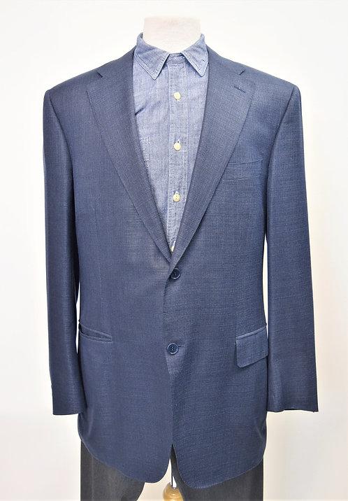Canali Blue Wool & Silk Blazer Size 46R