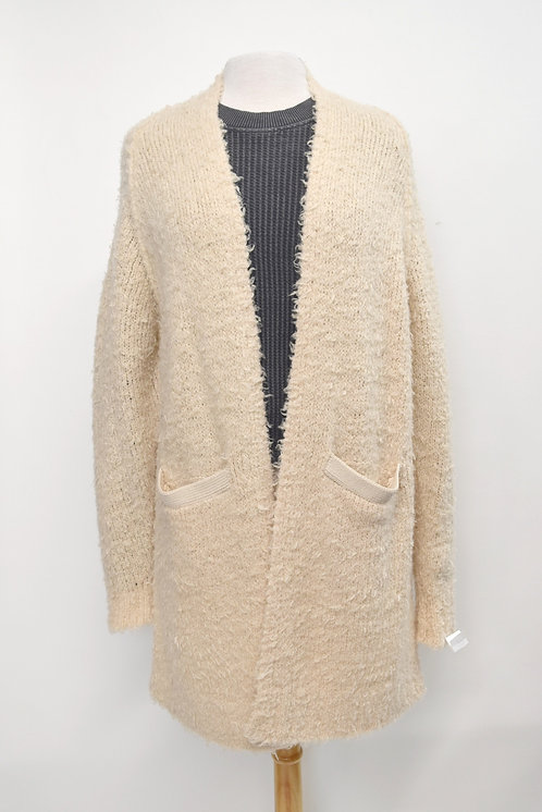 Free People Beige Long Cardigan Size XS/Small