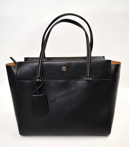 """Tory Burch Black Leather """"Parker"""" Tote"""
