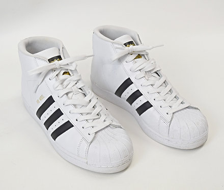 Adidas White Leather High Tops Size 10