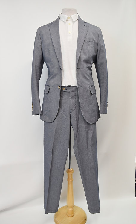 SuitSupply Blue Chambray Suit Size 38R