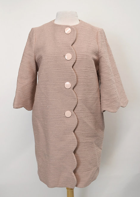 Kate Spade Blush Pink Scalloped Coat Size 6