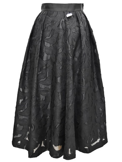 Hobbs Black Lace A-Line Skirt Size 2