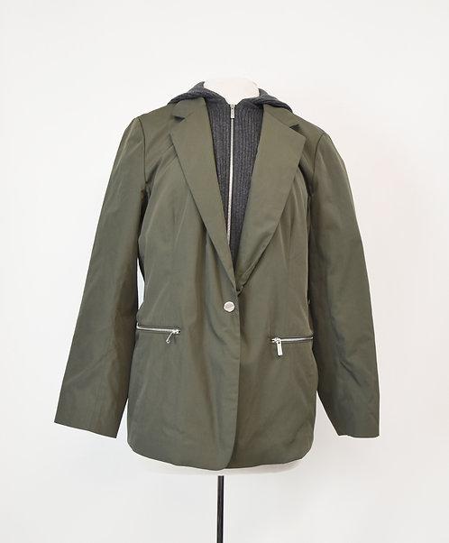 Lafayette Green Hooded Blazer Size Large