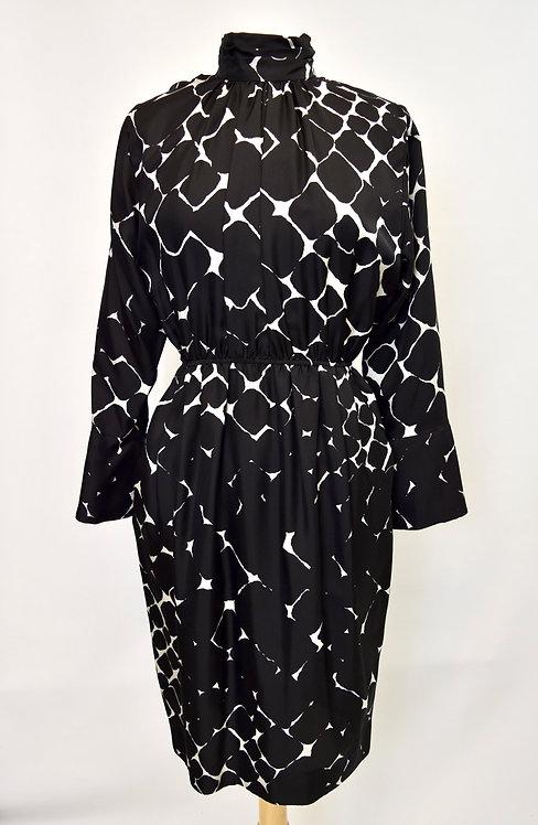 Marc Jacobs Black & White Silk Dress Size 6