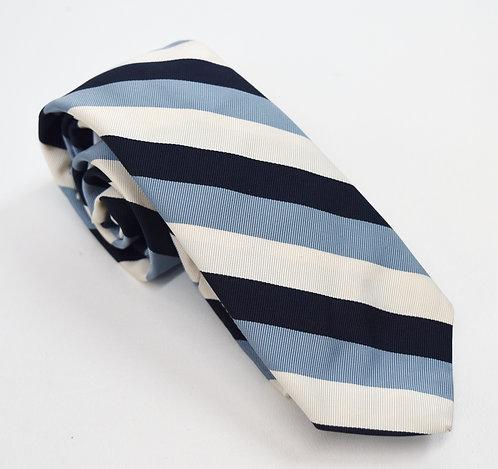 Brooks Brothers Black Fleece Blue & Navy Stripe Tie