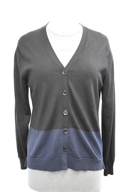 Louis Vuitton Black & Blue Wool Cardigan Size Medium