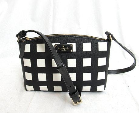 Kate Spade Black & White Check Crossbody