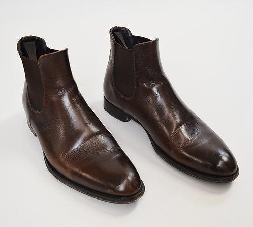 To Boot New York Brown Leather Boots Size 8.5