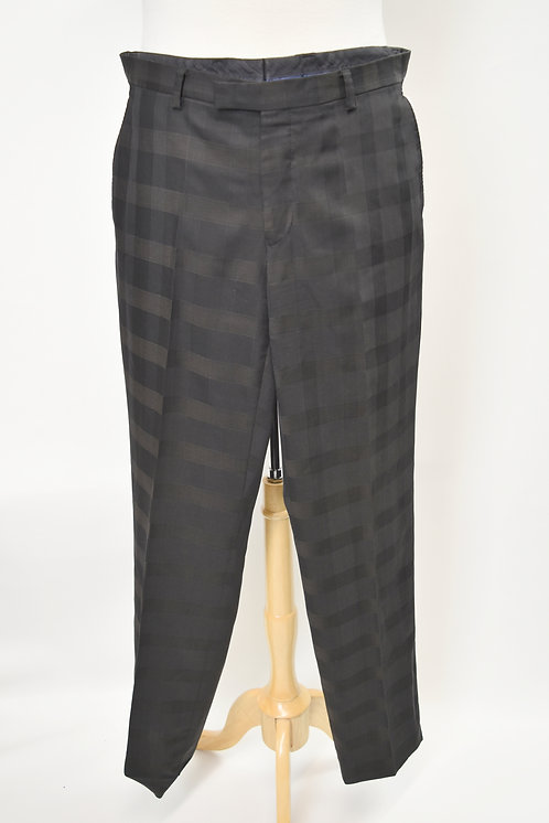 Kenzo Black Plaid Slim Pants Size 33
