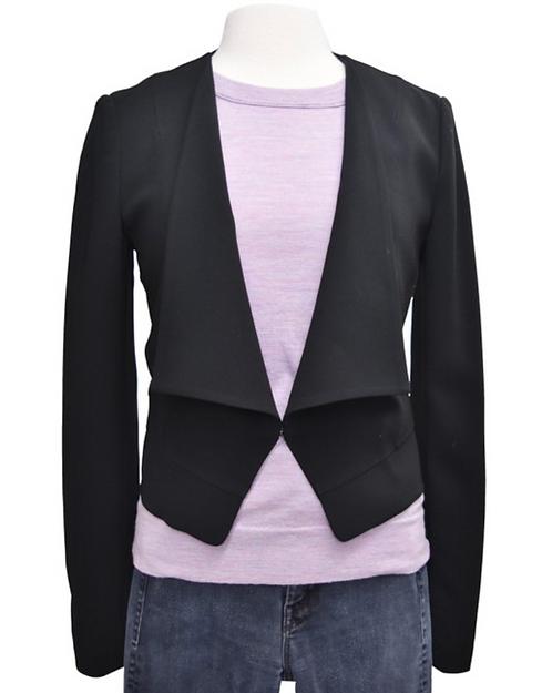 Diane Von Furstenberg Black Jacket Size 6