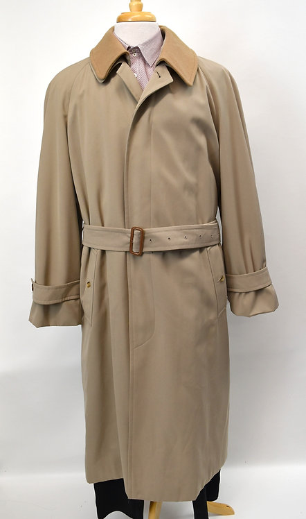 Burberry Tan Long Trench Coat Size XL