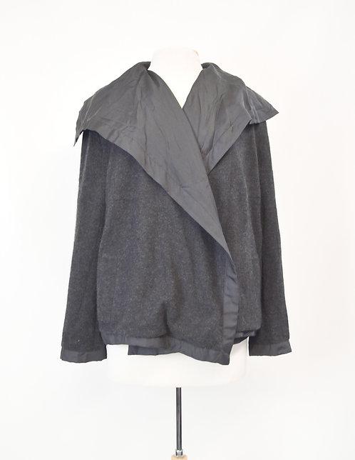 AKRIS Black Draped Jacket Size Large (14)