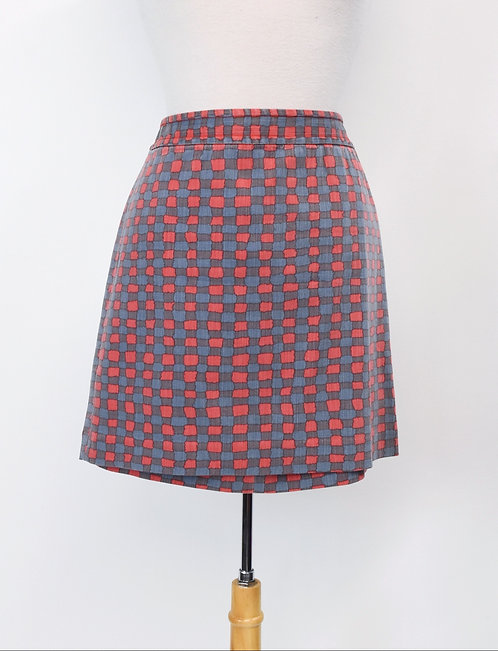 Marc By Marc Jacobs Pink & Blue Skirt Size Medium (8)
