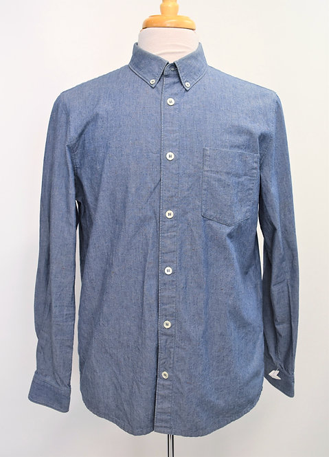 A.P.C. Blue Chambray Shirt Size Medium