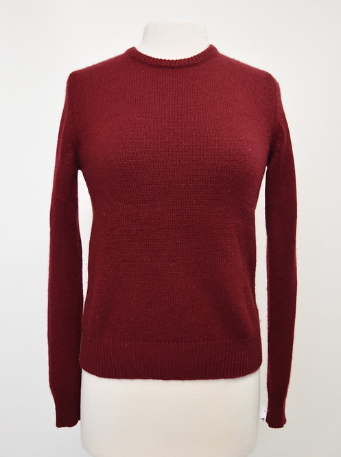 Demylee Maroon & Tan Cashmere Sweater Size Small