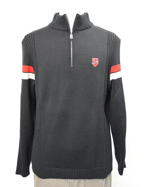 Bogner Black Quarter-Zip Sweater Size Large