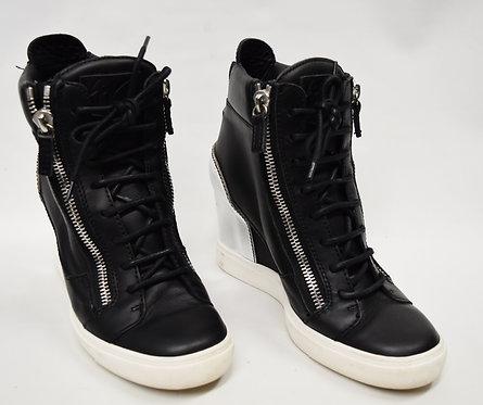 Giuseppe Zanotti Black Leather Sneakers Size 11