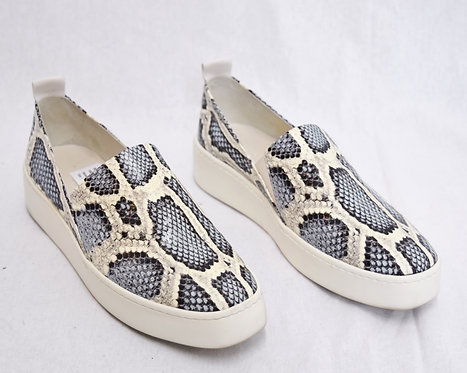 Vince White & Gray Snake Skin Print Leather Sneakers Size 7