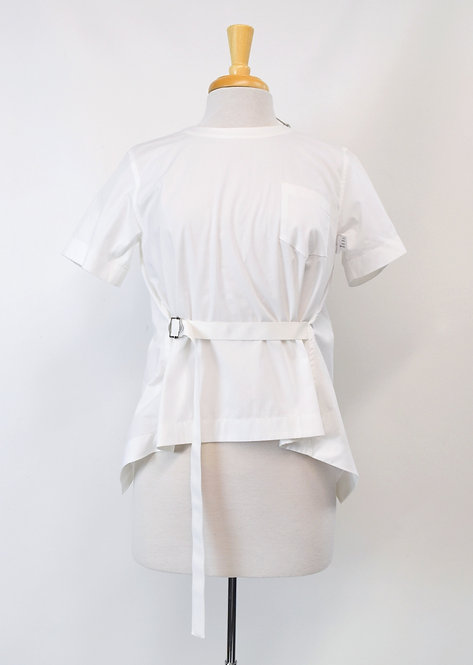 Sacai White Cotton Blouse Size XS (2)