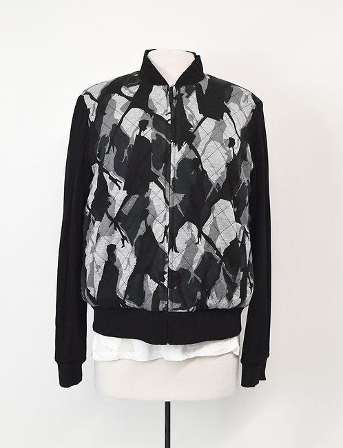 Diane Von Furstenberg Black Reversible Jacket Size Medium