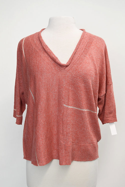 Cotelac Coral Short-Sleeve Sweater Size Medium