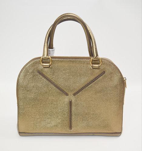 Saint Laurent Gold Leather Handbag