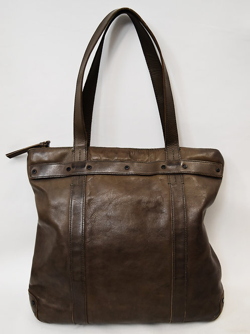 AllSaints Brown Leather Tote
