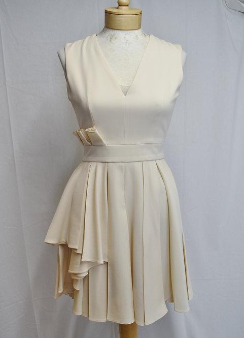 Alexander McQueen Ivory Pleated Dress Size 4