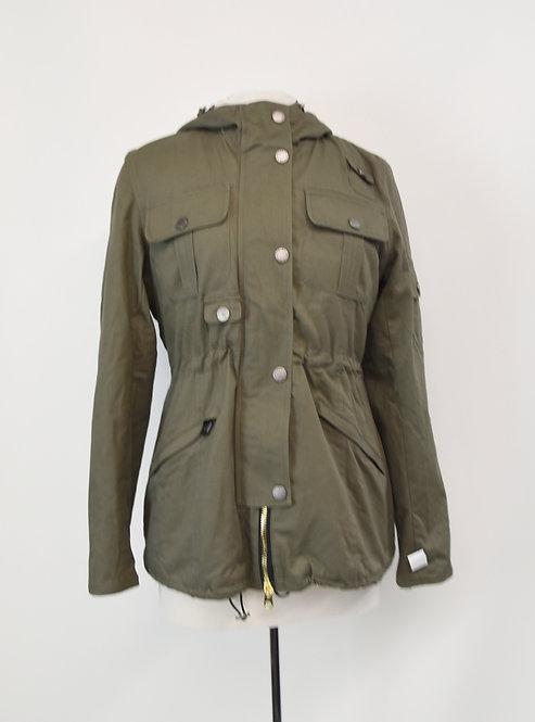 Barbour Green Hooded Coat Size Medium