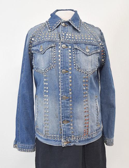 Frame Studded Denim Jacket Size Small