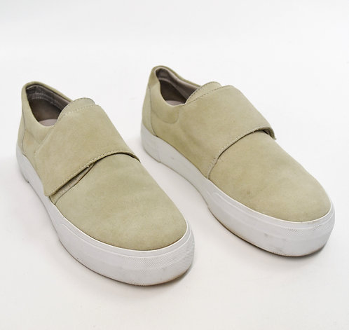Vince Beige Suede Sneakers Size 8.5
