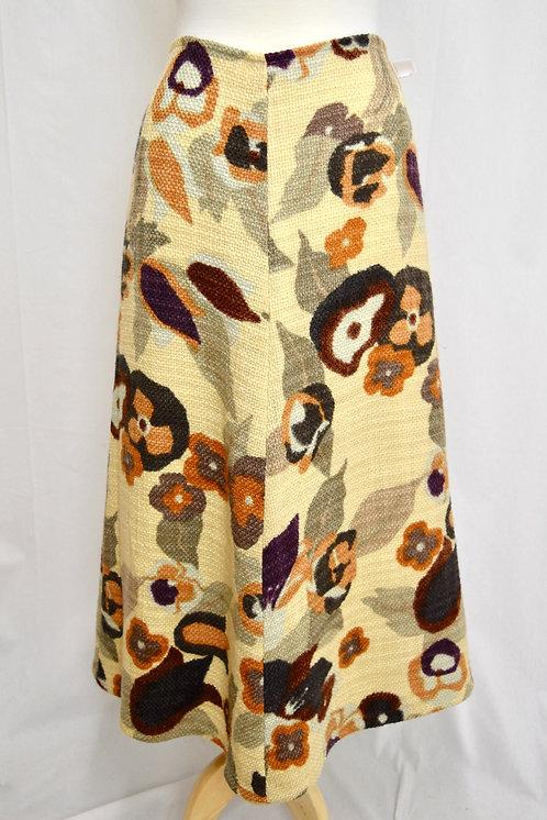 Dries Van Noten Beige Floral Maxi Skirt Size Large