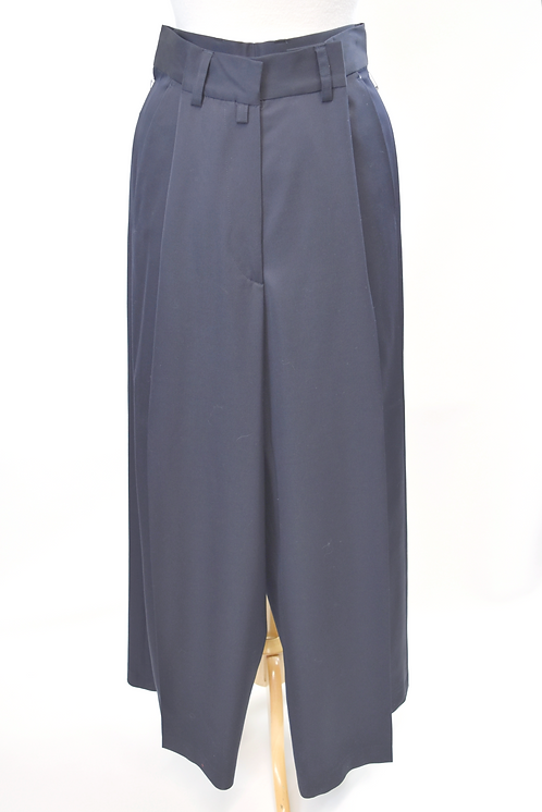 Dries Van Noten Navy Pleated Pants Size 6